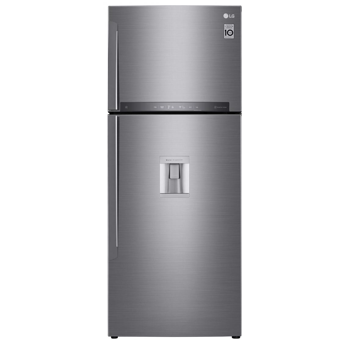 LG Lg Gtf7043ps - Refrigerateur Congelateur Haut - 438l 321+117 - Froid Ventile A++ - L70m X H178cm - Inox