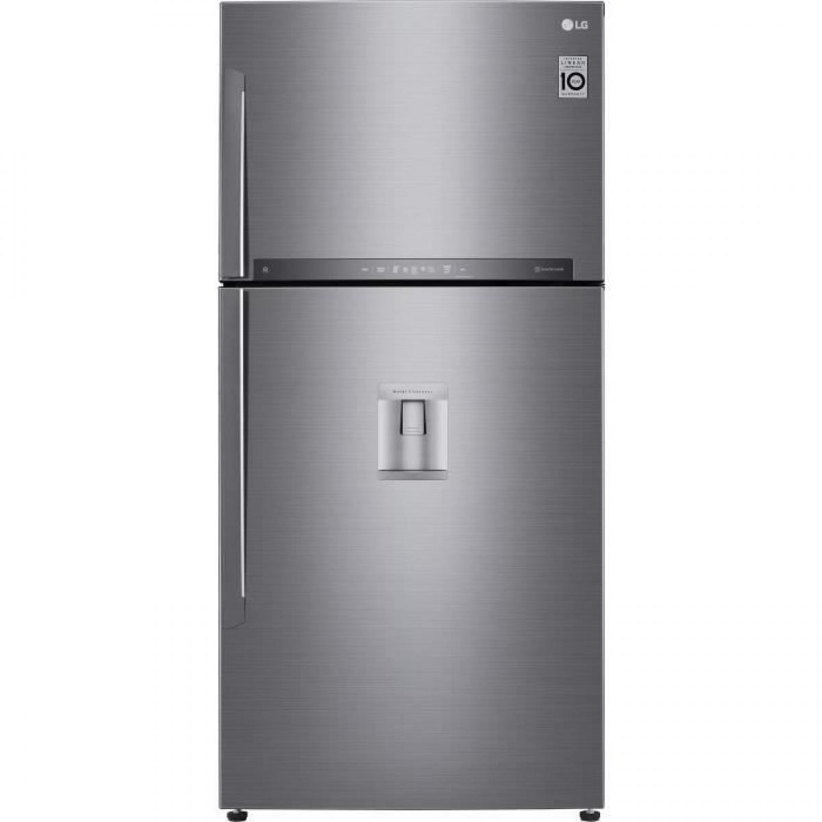 LG LG GTF8659PS - Refrigerateur congelateur haut - 592L 418+174 - Froid ventile - A++ - L86m x H184cm - Inox