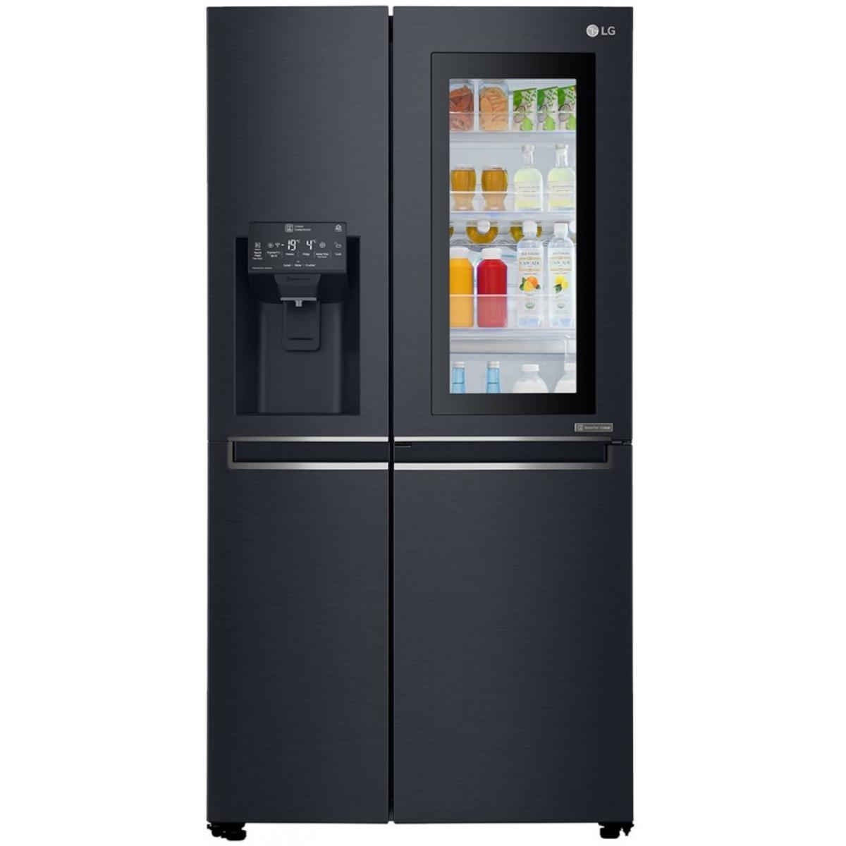 LG Réfrigérateur américain 601L Froid Ventilé LG 91.2cm A++, GSX 960 MCAZ
