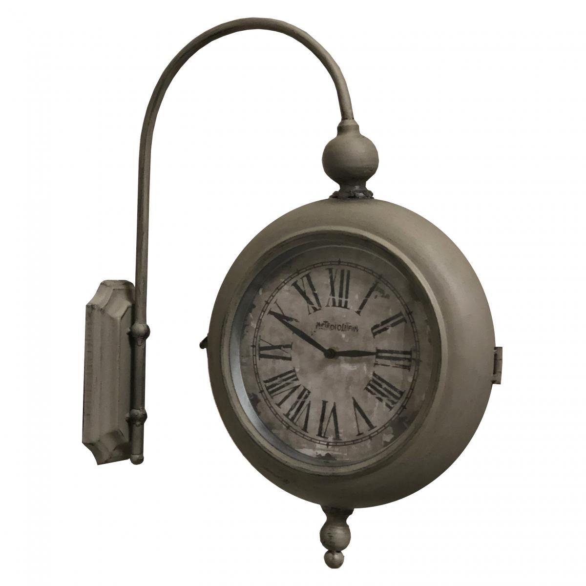 L'Originale Deco Horloge de Gare Horloge Industriel Double Face 57 cm x 47 cm x 10.50 cm