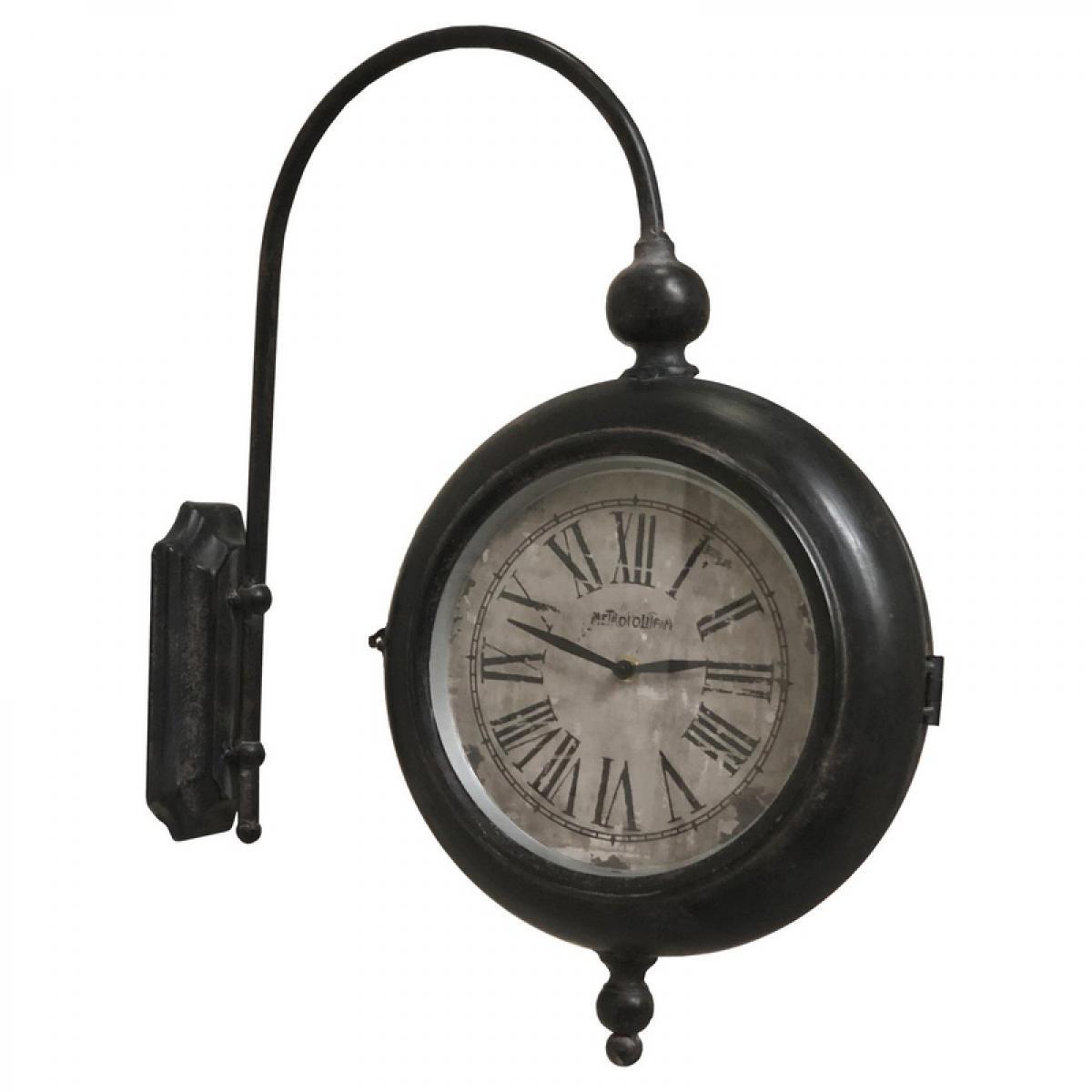 L'Originale Deco Horloge Industriel Horloge de Gare Double Face 57 cm x 47 cm x 10.50 cm