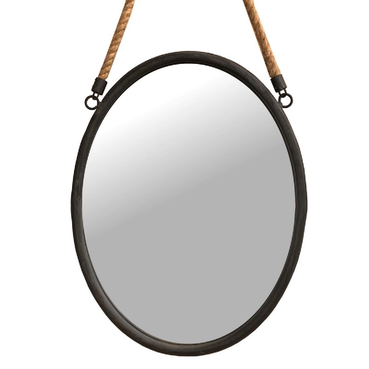 L'Originale Deco Miroir Murale Style Miroir Hublot Fenêtre Miroir Industriel 65 cm x 33.50 cm