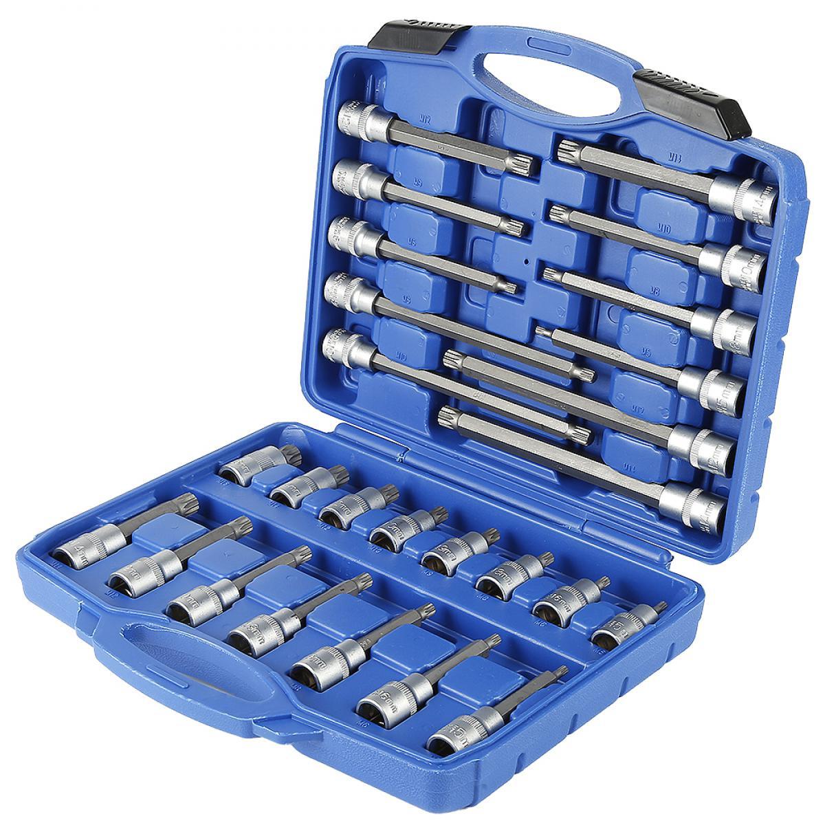 Ltppstore Jeu de clés à douilles multi-dents 26 pièces