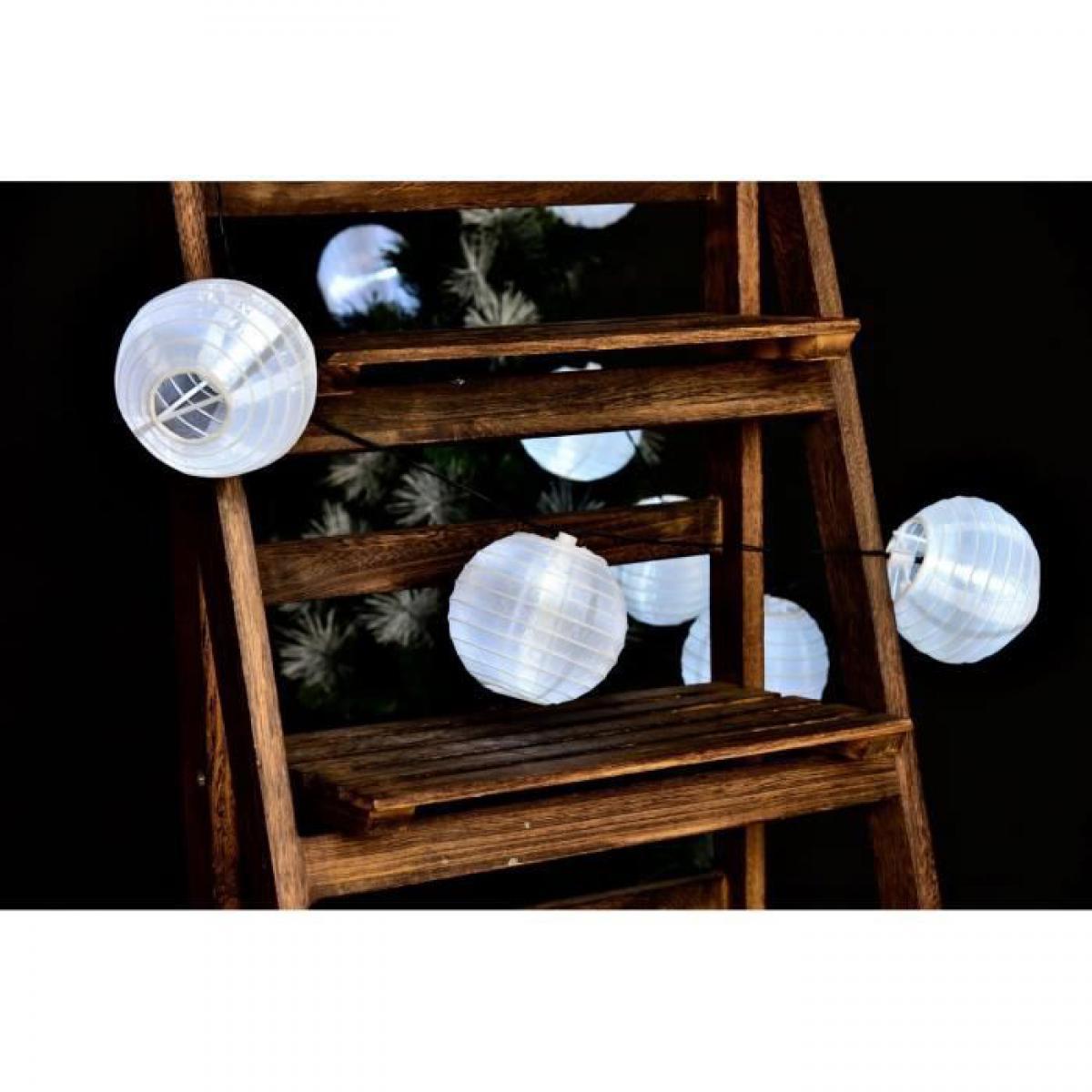 Lumi Jardin Lanternes guirlande lumineuse solaire 10 lampions a LED