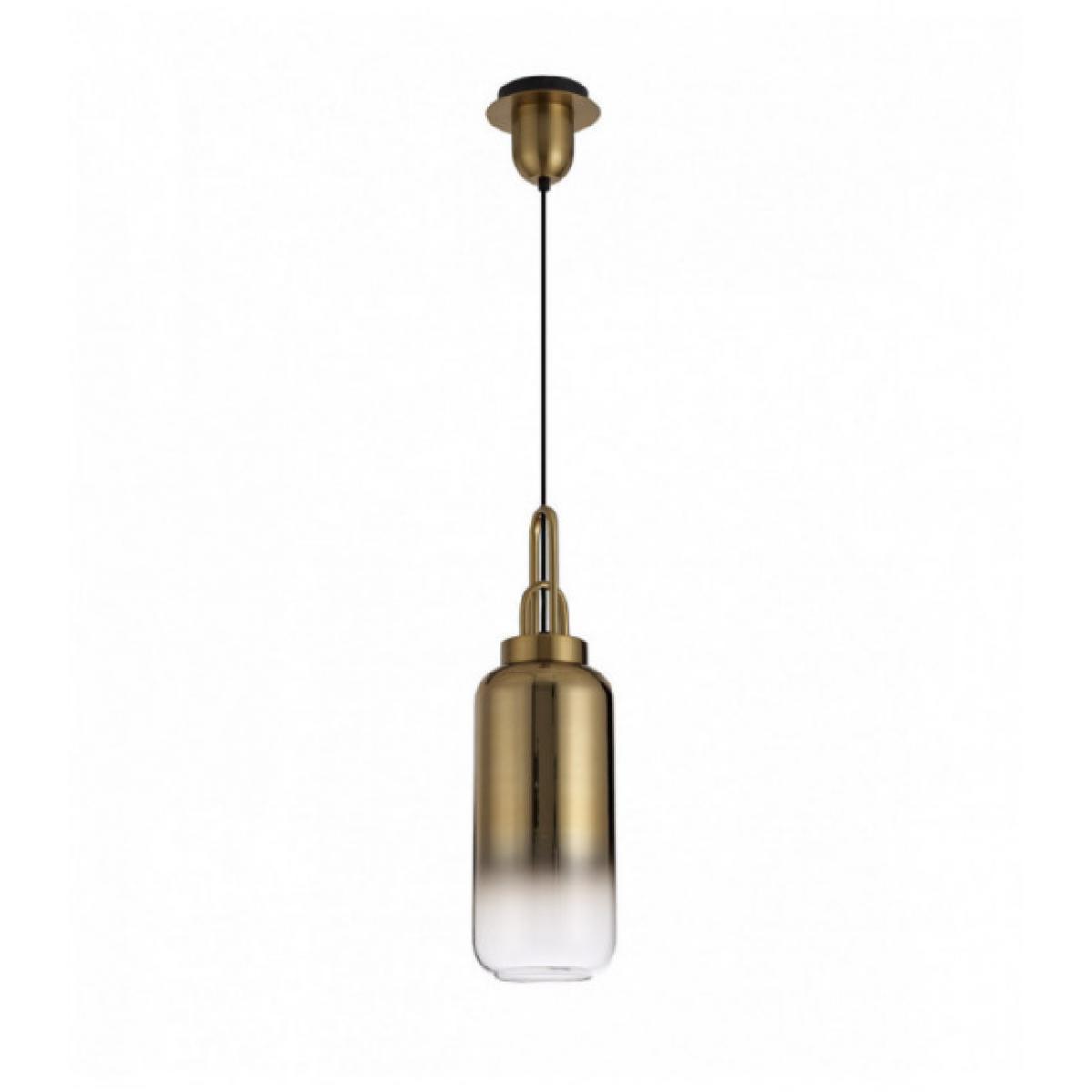 Luminaire Center Suspension Hank 1 Ampoule Laiton Doré 17 Cm