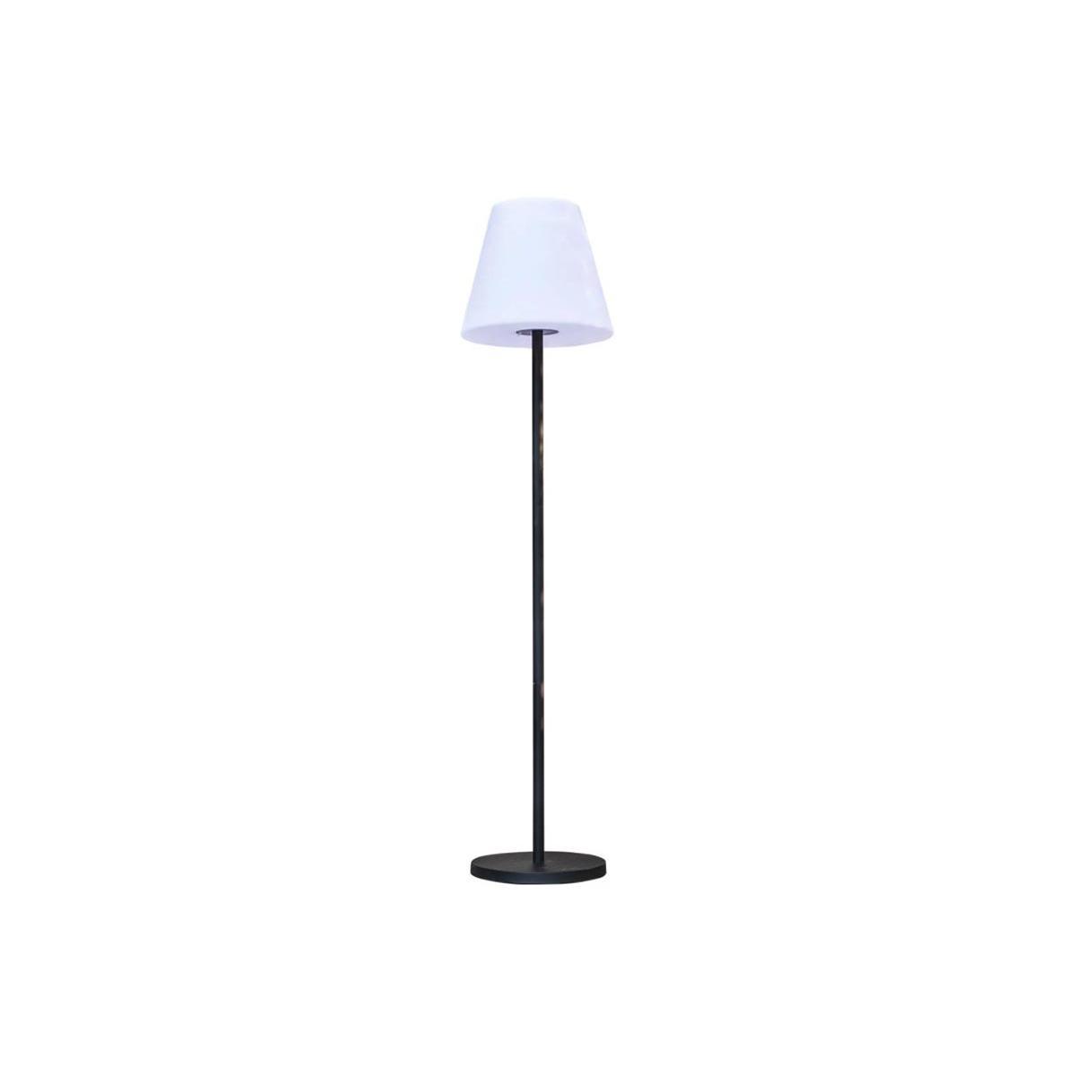 Lumisky Lampadaire lumineux solaire et rechargeable pied métal LED blanc chaud / blanc dimmable STANDY SOLAR H 150 cm