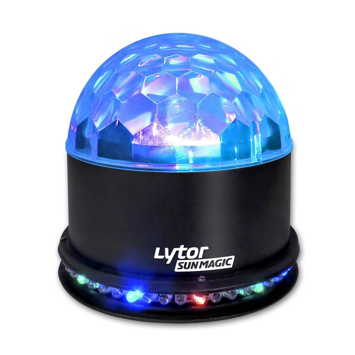 Lytor Boule lumineuse LYTOR de 48 LEDs RVB avec 3 LEDs 1W RVB sur son dôme
