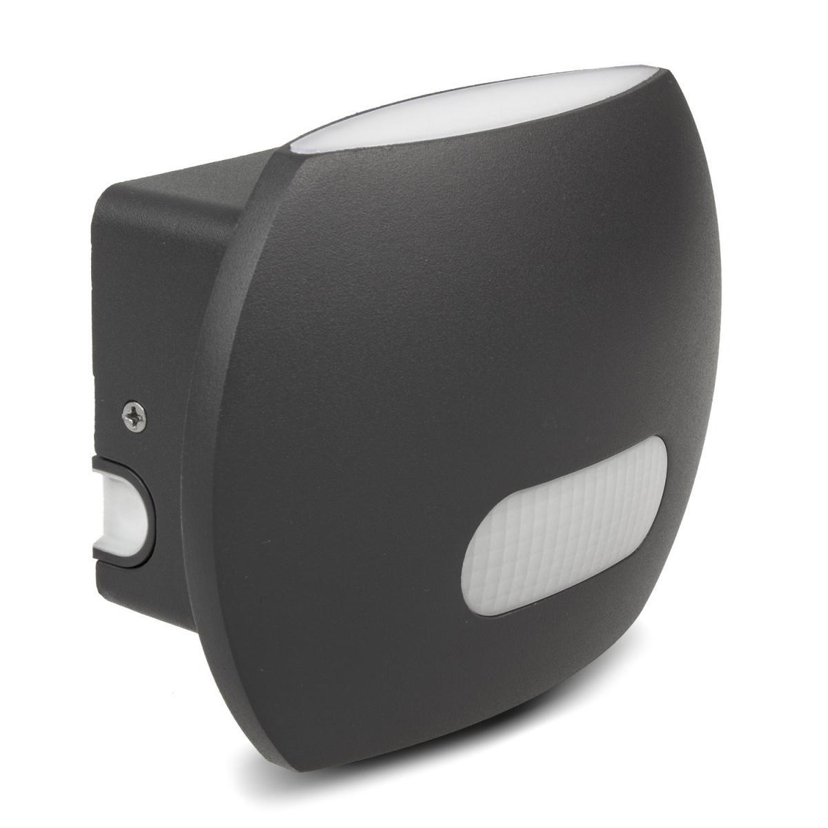 Maclean Lampe LED Maclean avec détecteur de mouvement PIR murale intérieur / extérieur IP65 4000K blanc neutre