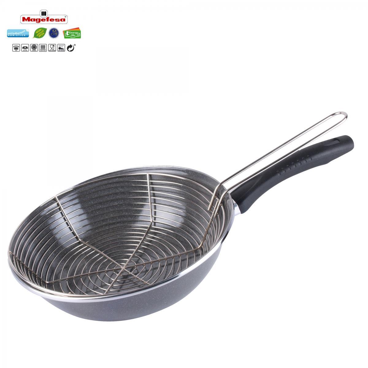 Magefesa Poêle à frire avec panier 26 cm Magefesa PARMA