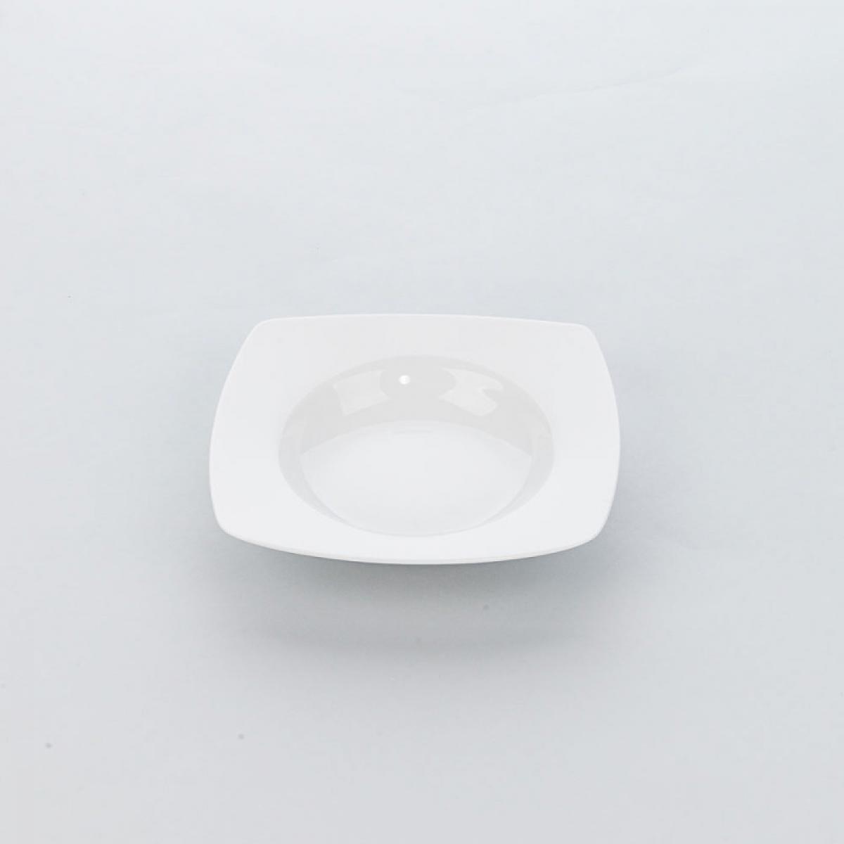 Materiel Chr Pro Assiette Creuse Porcelaine Carrée Apulia L 210 mm - Lot de 6 - Stalgast - Porcelaine