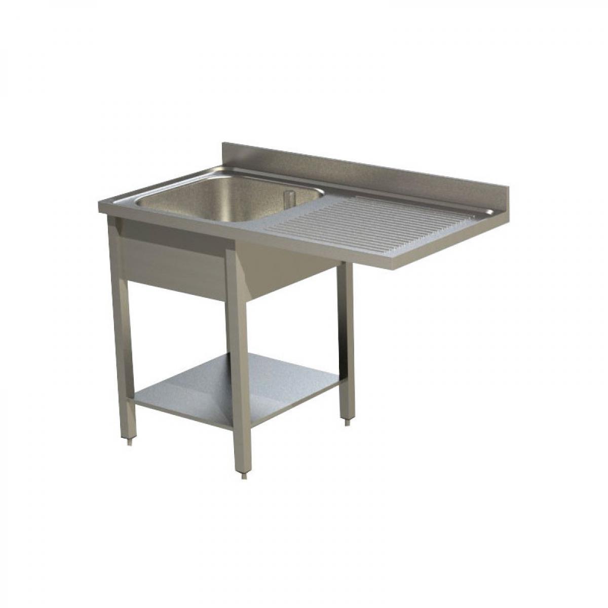 Materiel Chr Pro Plonge Inox Gamme 600 avec Passage Lave-Vaisselle - Égouttoir Droite ou Gauche -