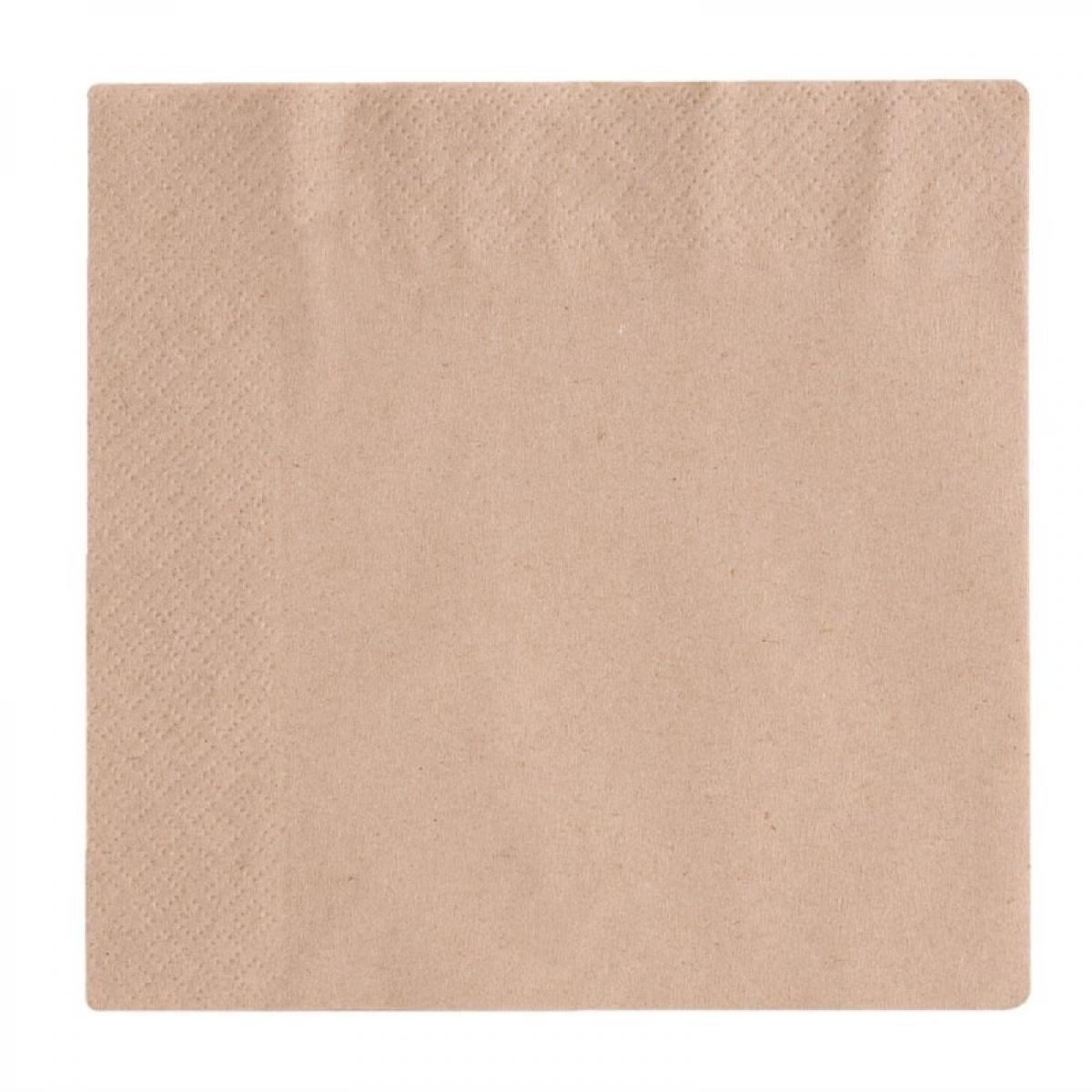 Materiel Chr Pro Serviettes de Table en Papier Snacking Compostables 2 plis 33 cm - Lot de 2000 - Vegware -