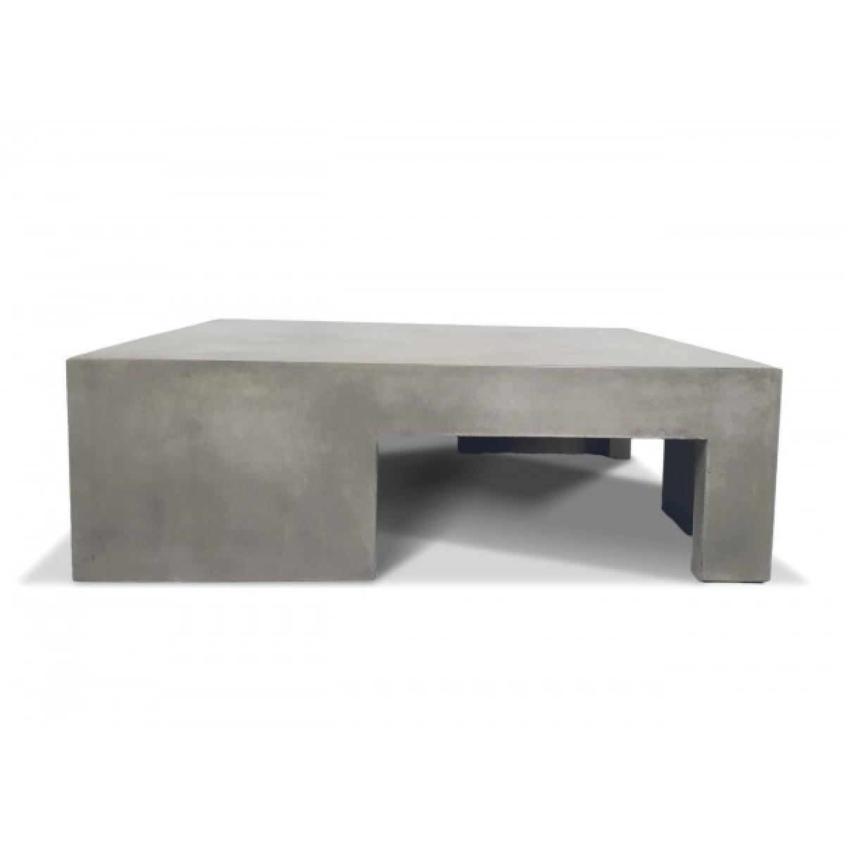 Mathi Design BETON - Table basse carrée Cubic