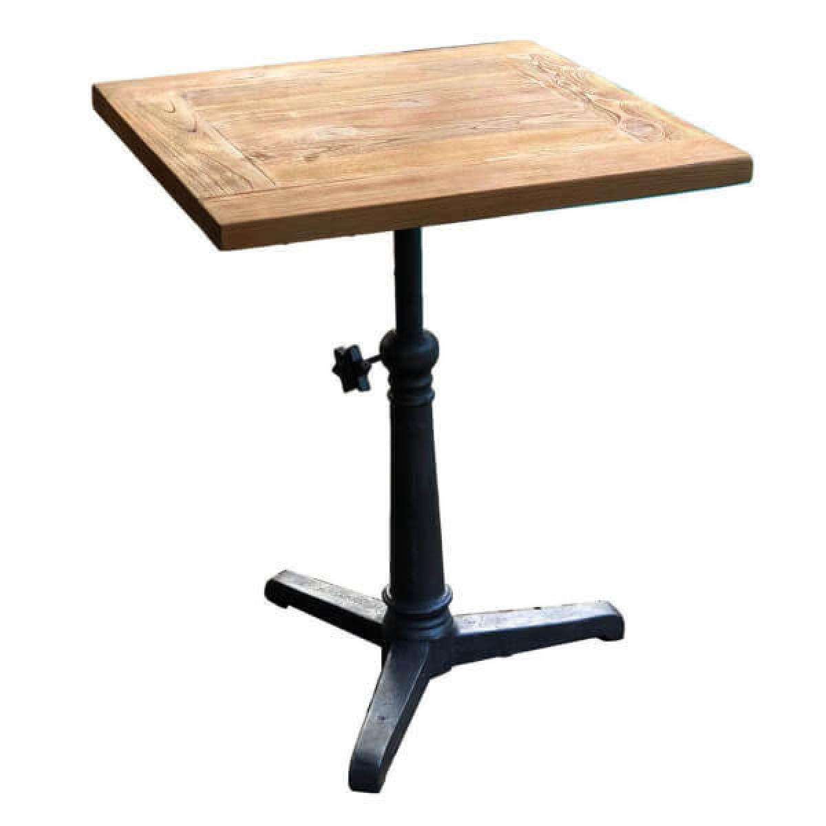 Mathi Design BISTROT 70 - Table hauteur réglable bois massif