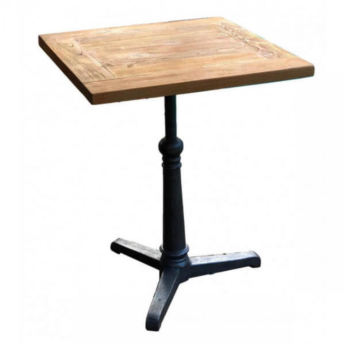 Mathi Design BISTROT - Table repas bois massif 50 cm
