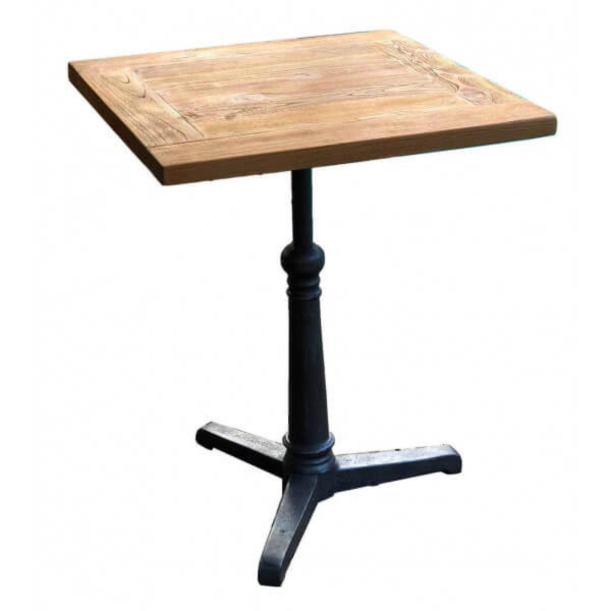 Mathi Design BISTROT - Table repas bois massif 70 cm