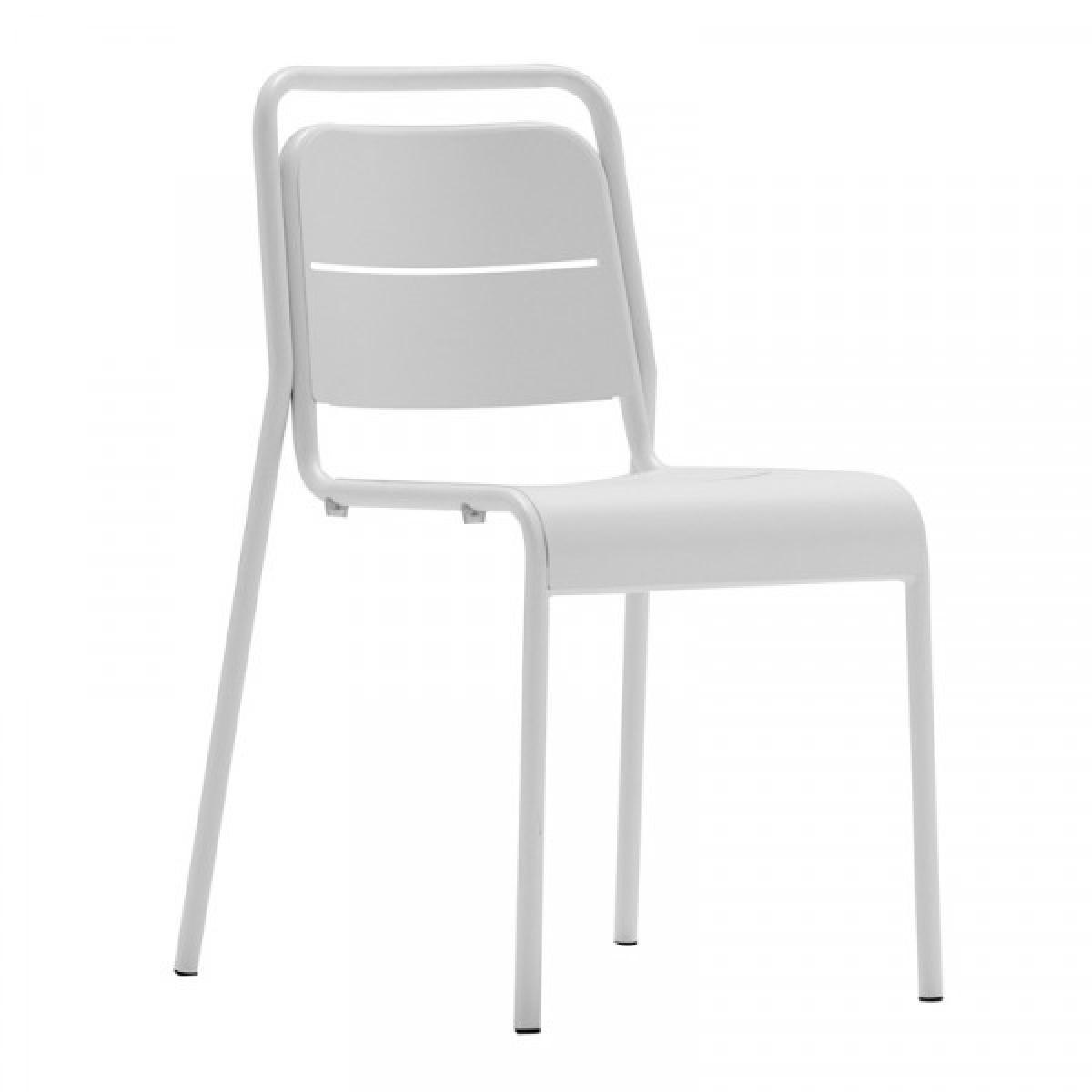 Mathi Design MALAGA - Chaise de terrasse blanche