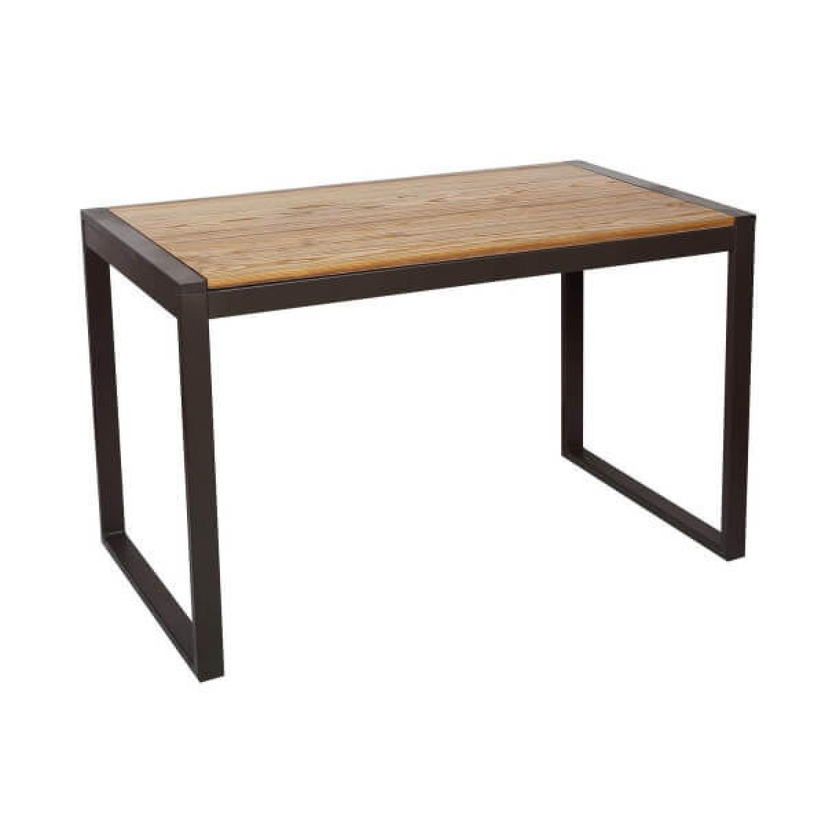 Mathi Design NEVADA - Table repas 120 cm bois massif naturel