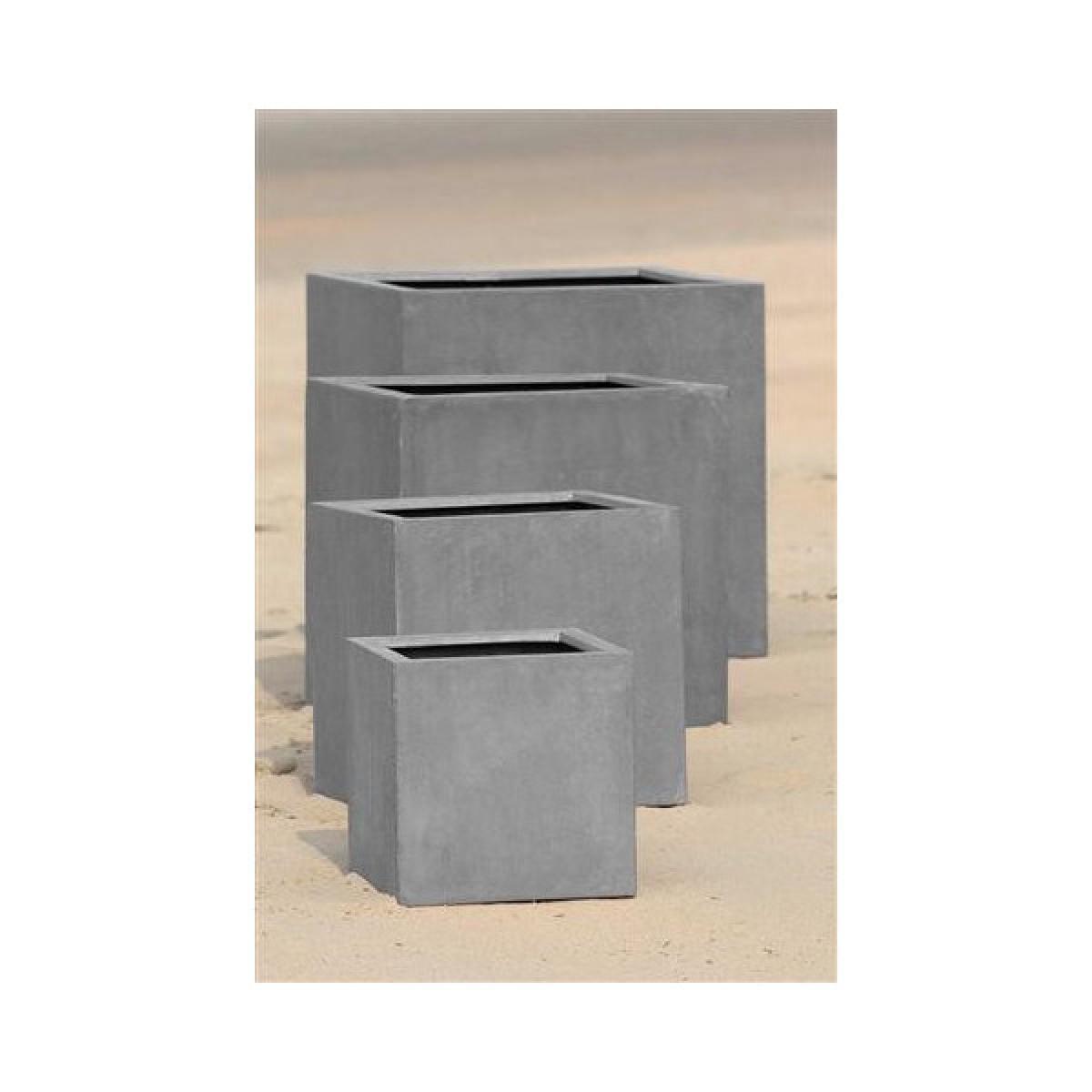 Mathi Design ROCKSTONE - Jardinière carrée 40x40x40 cm
