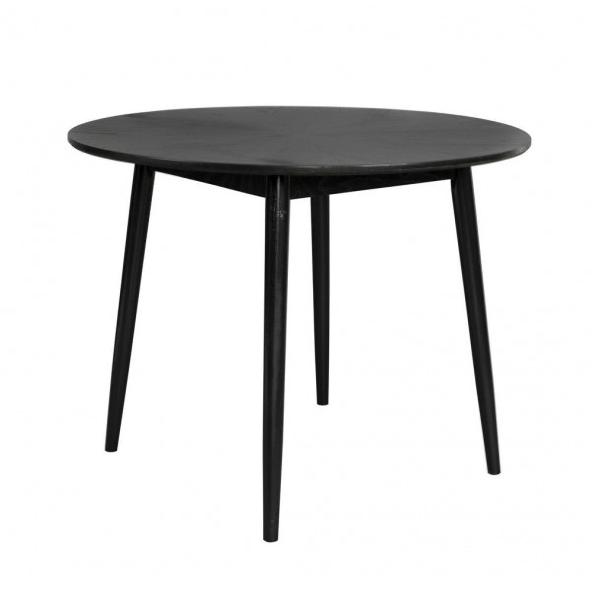 Mathi Design Table design de repas finition bois noir 100 cm