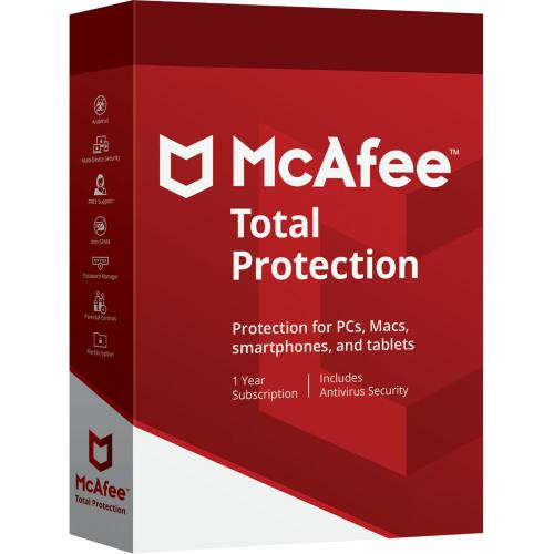 Antivirus McAfee Total Protection - Licence 1 an - 10 appareils