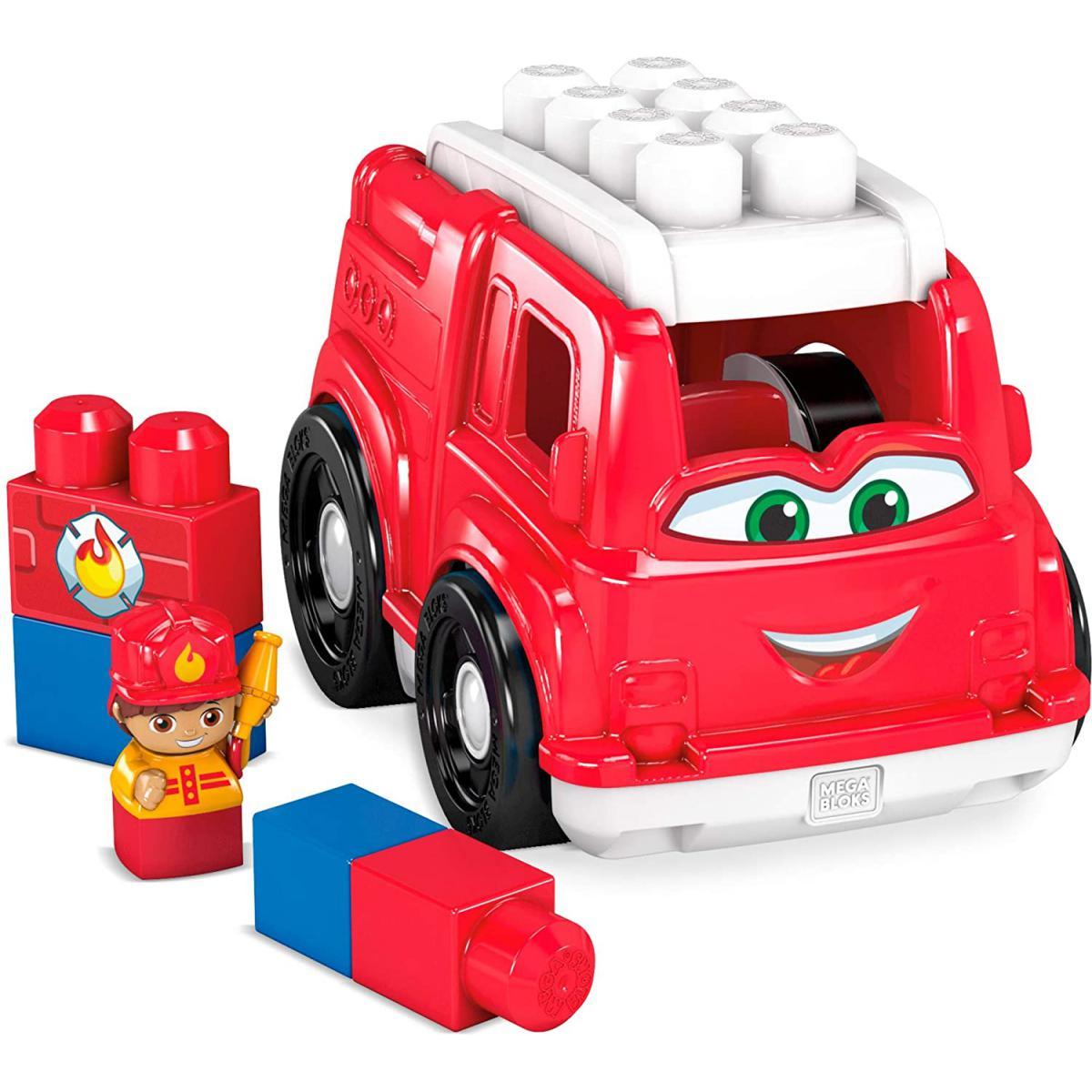 MEGA BLOKS Camion de Pompiers de blocs de construction de 6 pièces pour bébé et enfant de 1 à 5 ans