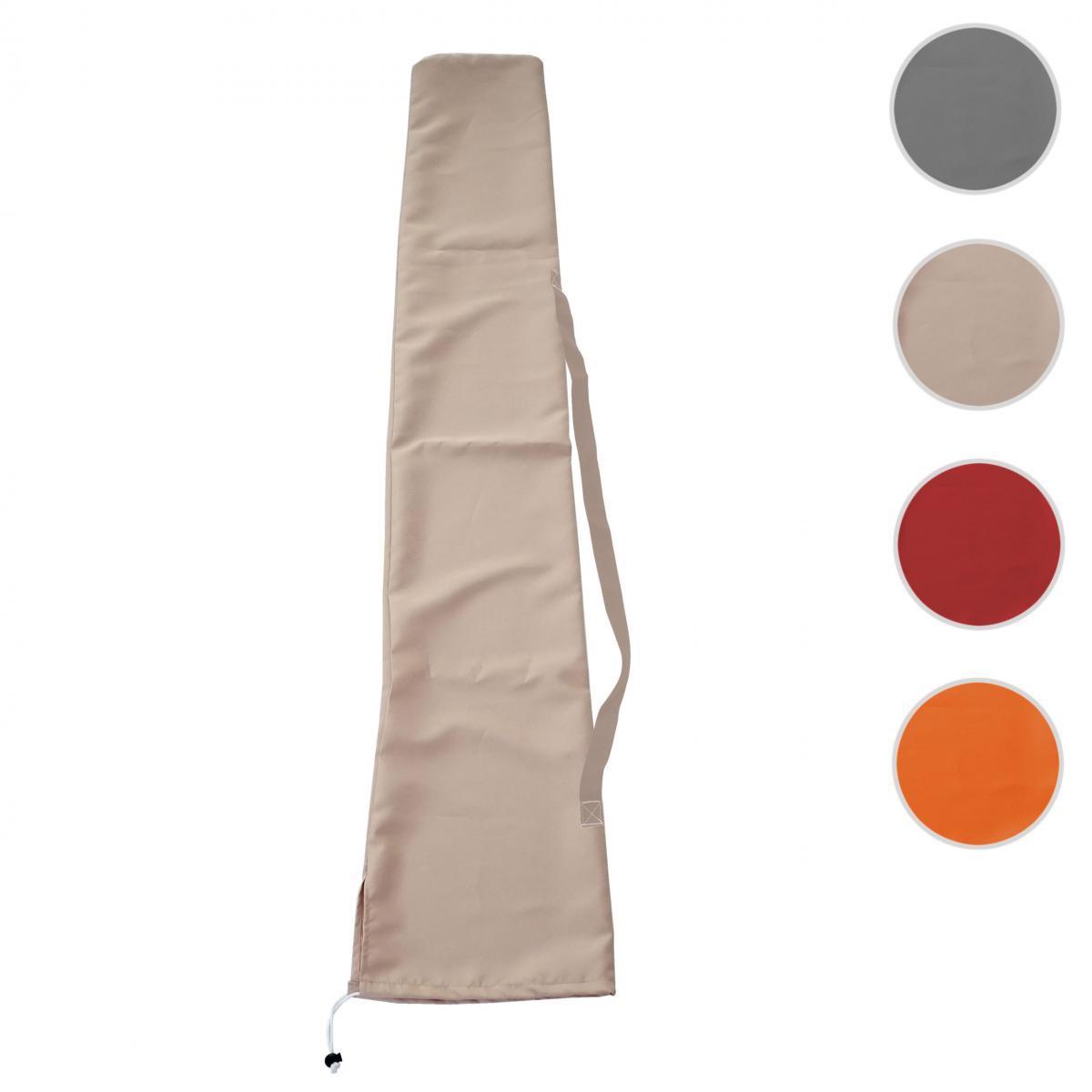 Mendler Housse de protection pour parasol jusqu'à 3x4m, gaine de protection avec cordelette ~ crème