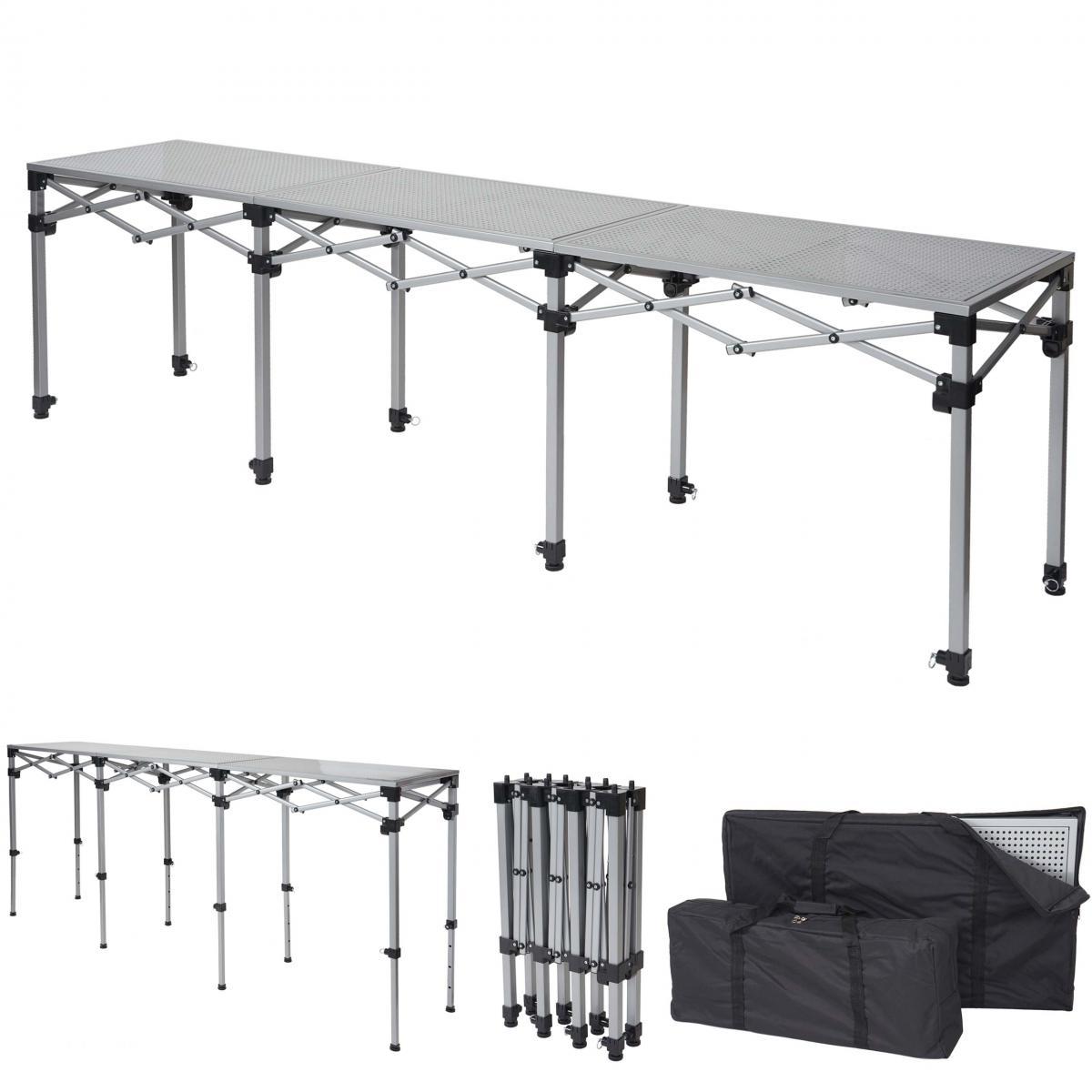 Mendler Table multifonction HWC-A23, pliable, hauteur réglable ~ 270 cm