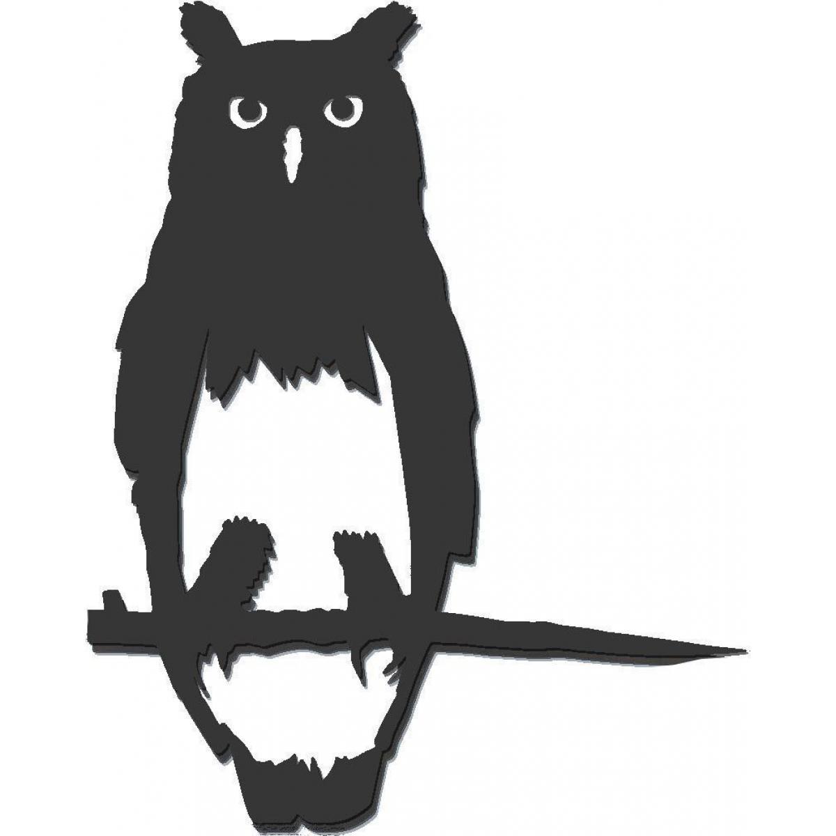 Metalbird Oiseau à planter hibou en acier corten Hauteur 29cm