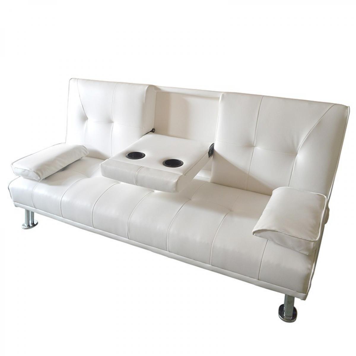 Meubler Design CANAPÉ CONVERTIBLE CLIC CLAC CANBAR - Blanc