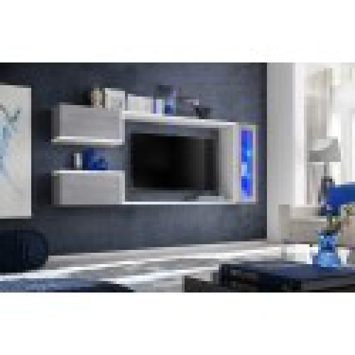 meuble tv suspendu meuble de salon complet saturne composition murale moderne