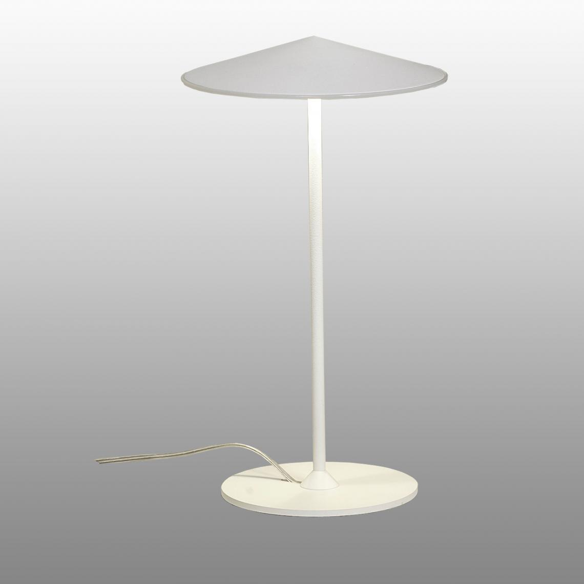Milan Lampe de table 20 cm de diamètre blanc Laque 3 X 5 W