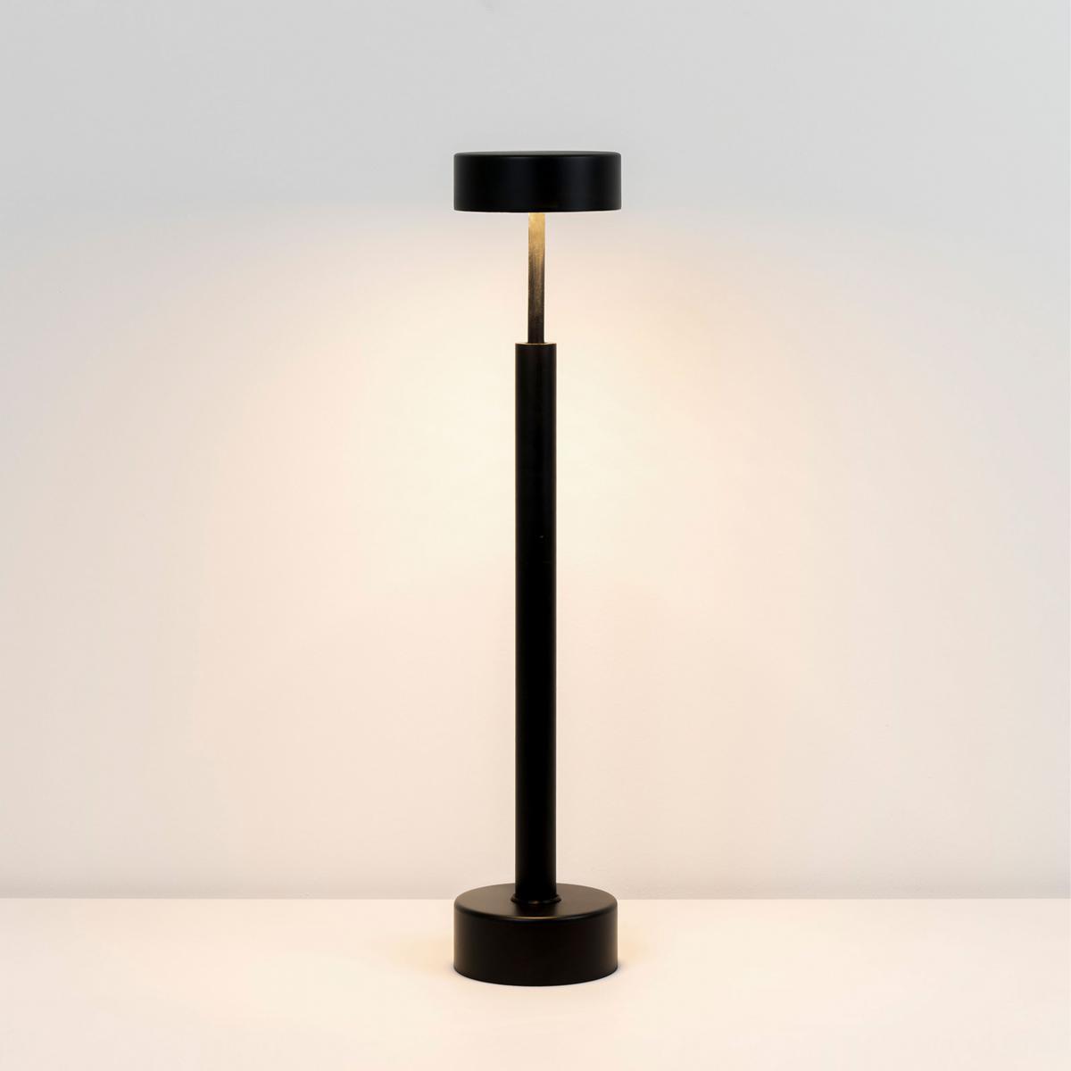 Milan Pic 58 T.Led Lampe de table Laque noire série de pointe