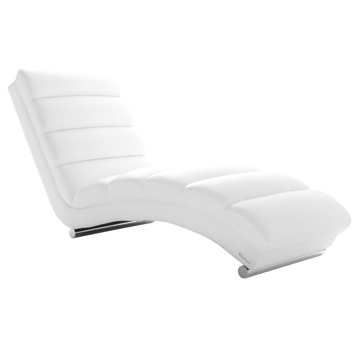 Miliboo Chaise longue / fauteuil design blanc TAYLOR