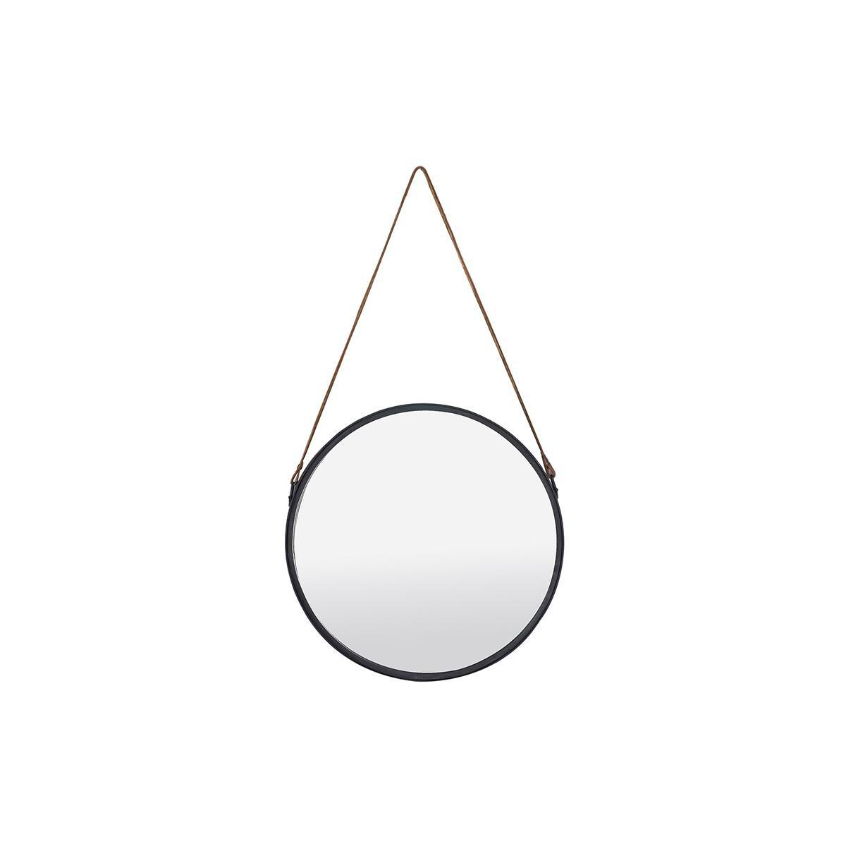 Miliboo Miroir rond design métal noir 40cm KARL