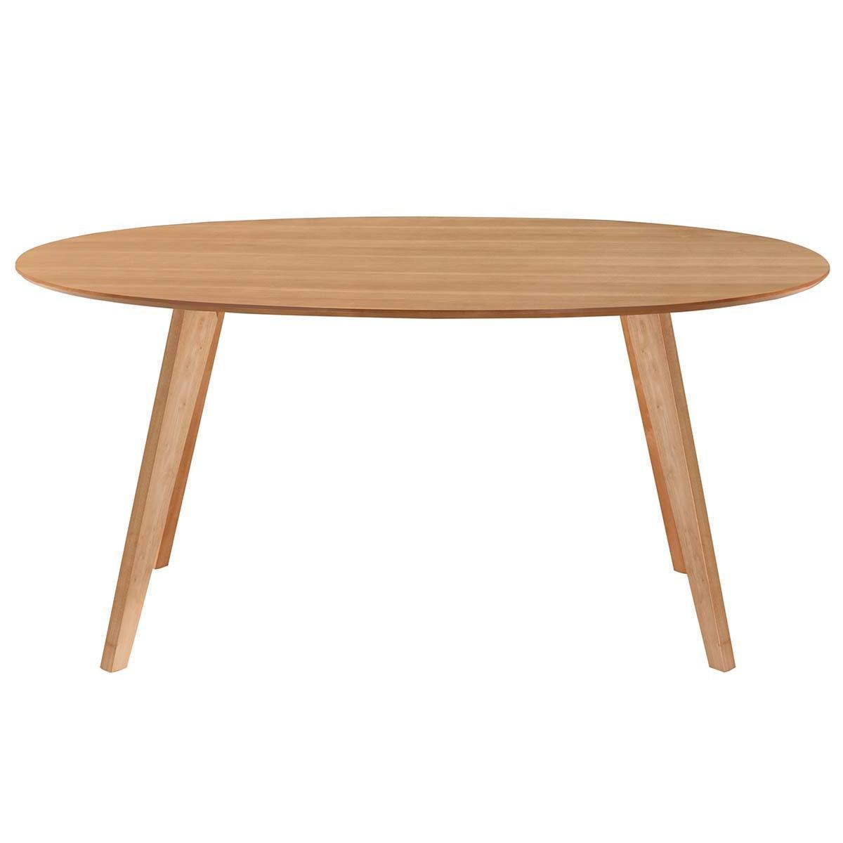 Miliboo Table à manger design scandinave ovale chêne L160 cm MARIK