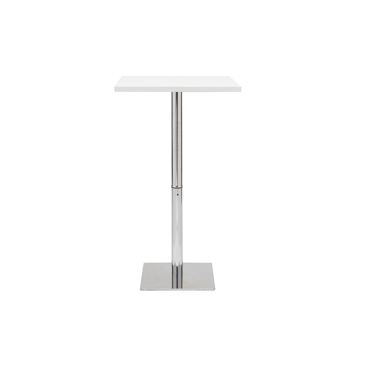 Miliboo Table de bar design carrée blanche JACK
