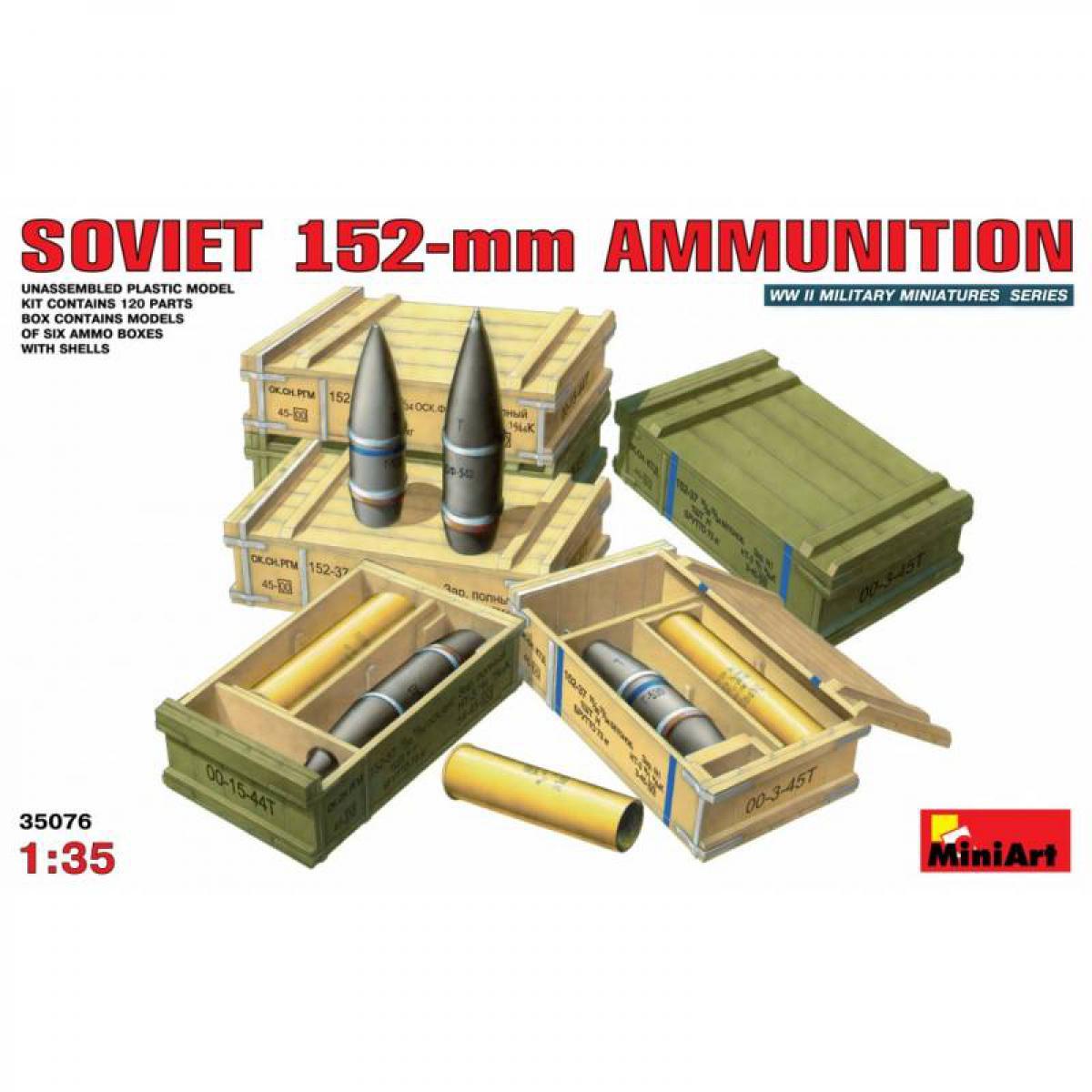 Mini Art Soviet 152-mm Ammunition - Accessoire Maquette