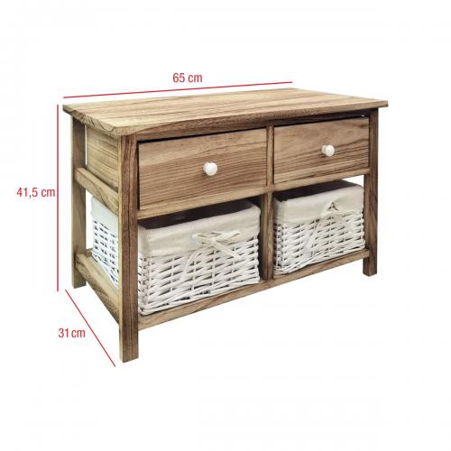 banc commode 4 tiroirs salle de bains retro bois clair 41 5x65x31
