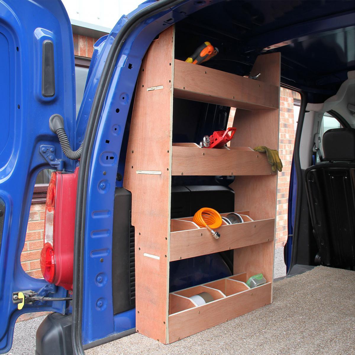 Monster Racking Monster Racking Meuble de Rangement en Contreplaqué Bouleau pour Citroën Berlingo II SWB, Etagères de Rangement pour Fou