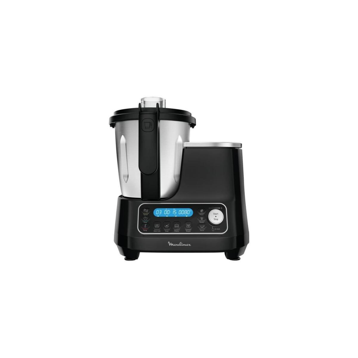 Moulinex MOULINEX HF456810 Clickchef Robot Cuiseur Multifonction 5 Programmes Automatiques Robot Cuisine Compact 25 fonctions Bal
