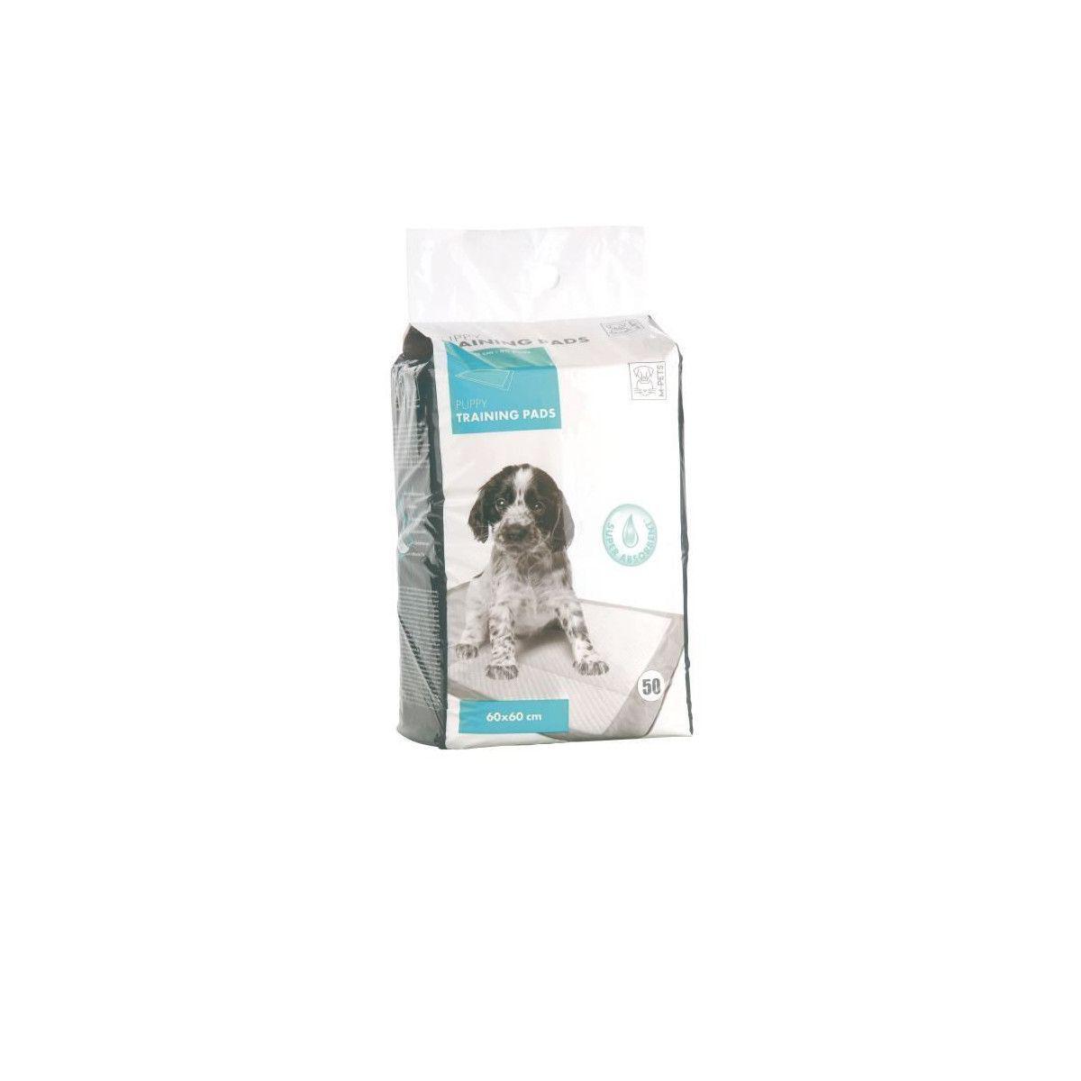 Mpets Mpets Tapis Educateur Puppy Training Pads - Pour Chiot - 50pcs - Blanc