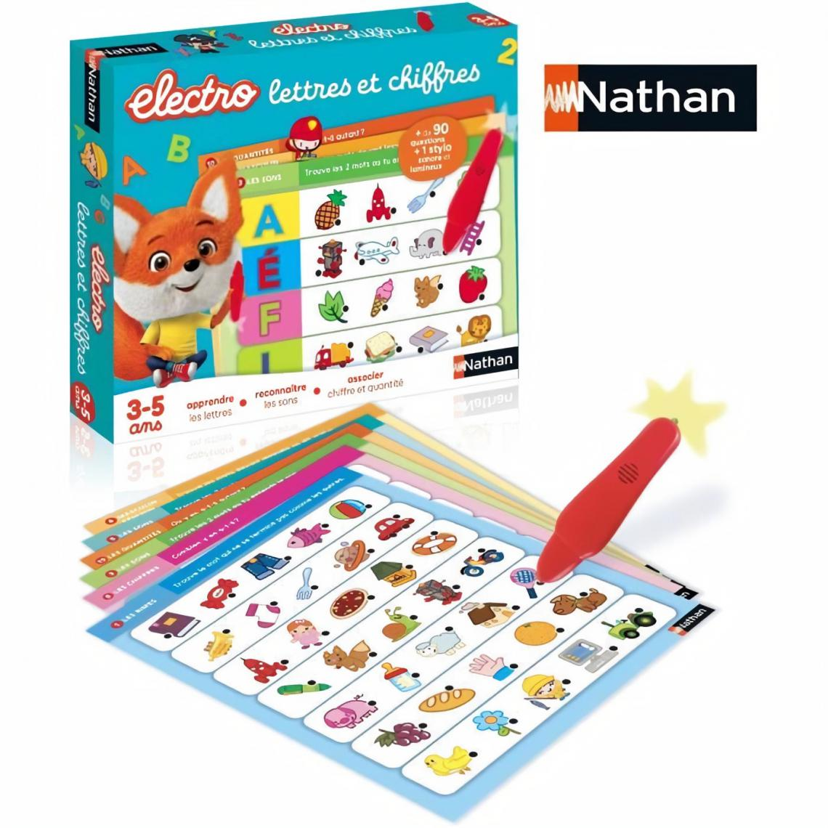 Nathan Nathan Electro - Lettres et Chiffres, jeu éléctronique