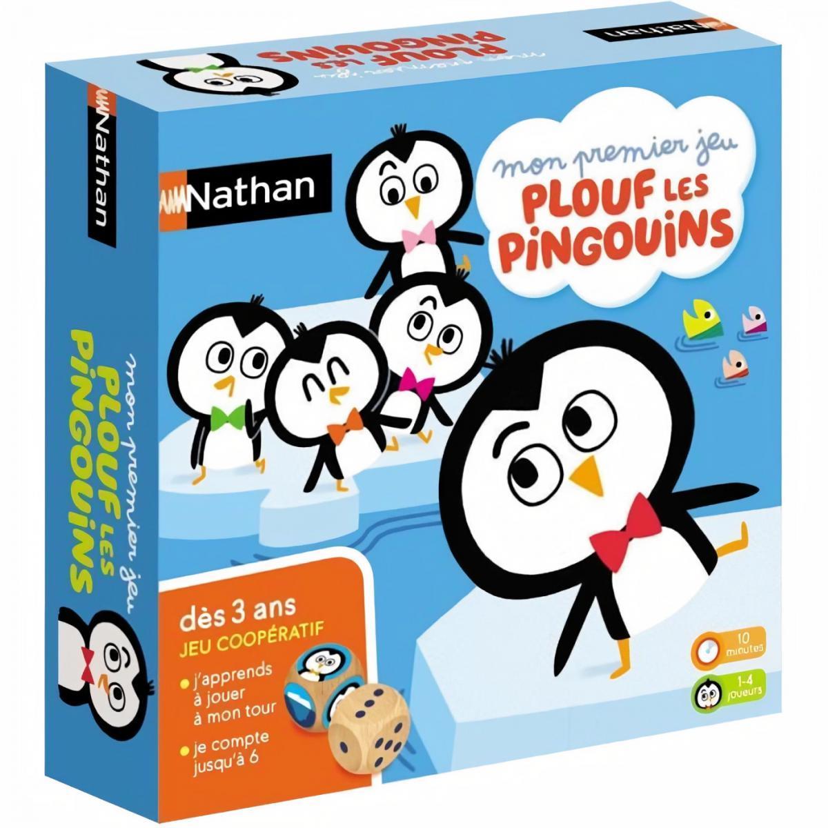 Nathan Nathan Plouf les pingouins, jeu de société