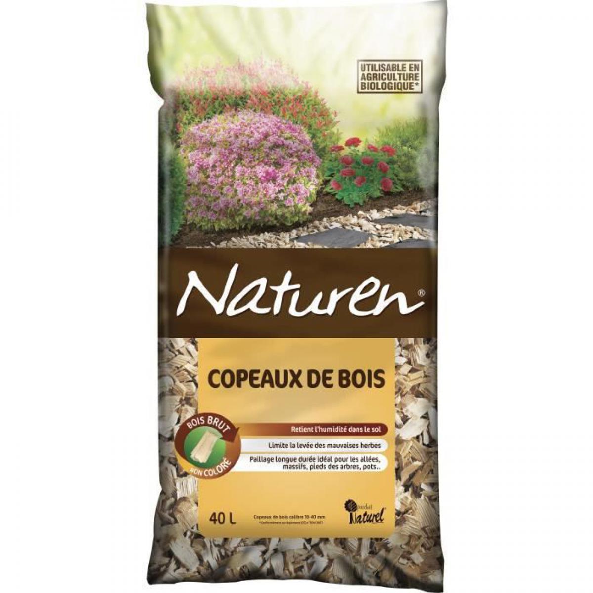 Naturen NATUREN Copeaux de Bois non coloré - 40L