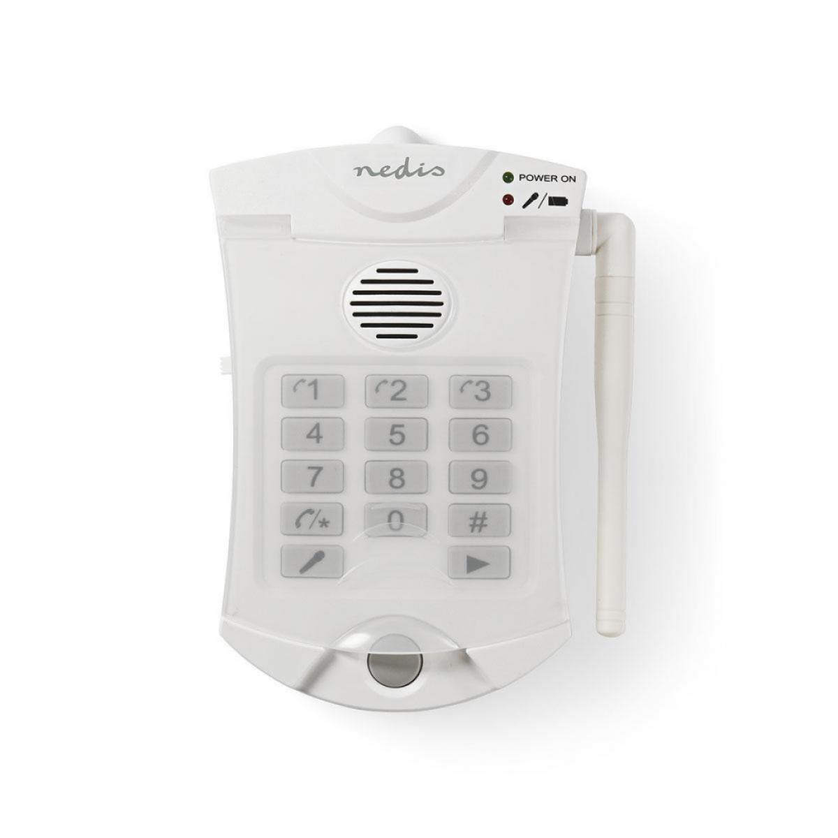 Nedis Composeur pour Alarme de Sécurité Personnelle | RTCP | 3 Numéros Programmables | Fonctionne jusqu'à 60 m