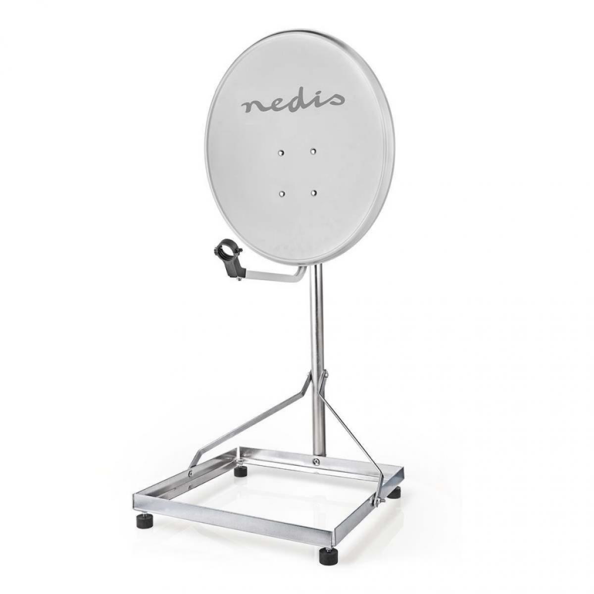 Nedis Socle de Satellite pour Balcon | Taille Maximale de l'Antenne Parabolique : 90 cm | 1 x 50 x 50 cm | Acier