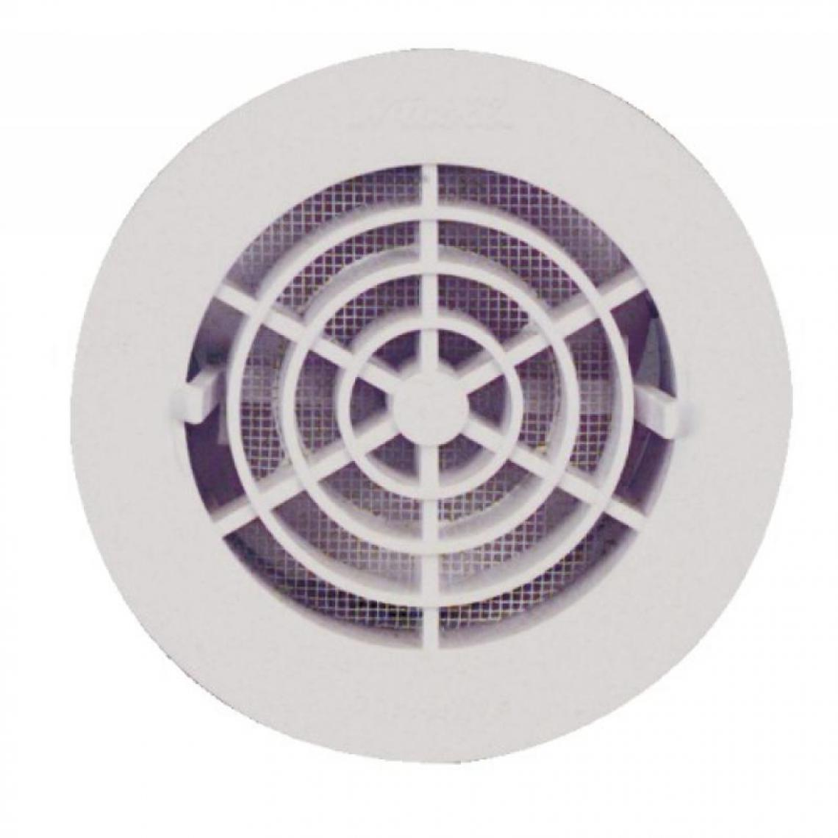 Nicoll Grille de ventilation intérieures Ø 100 mm - à fermeture FATM pour tubes PVC et gaines