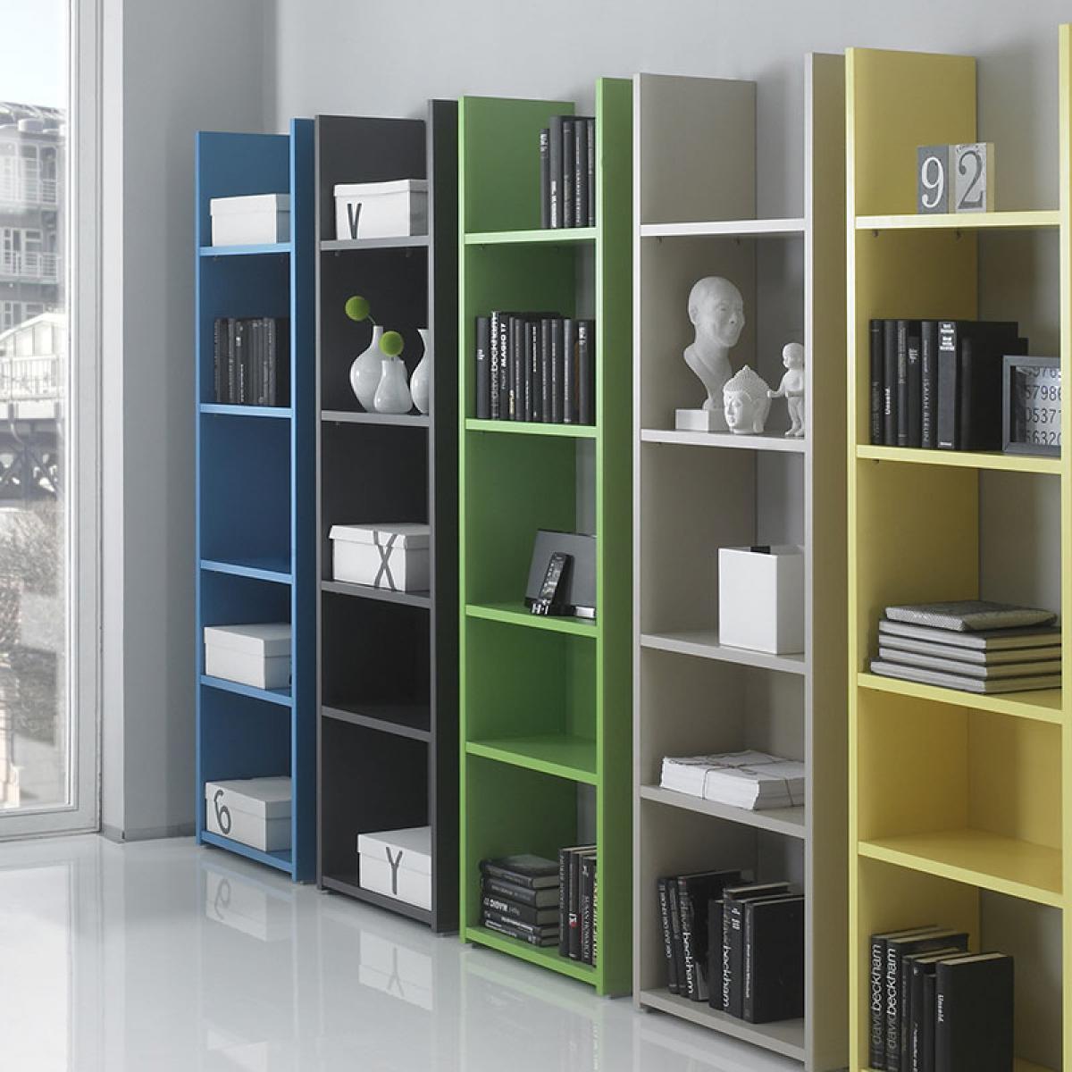 Nouvomeuble Bibliothèque design verte laquée TIPHAINE