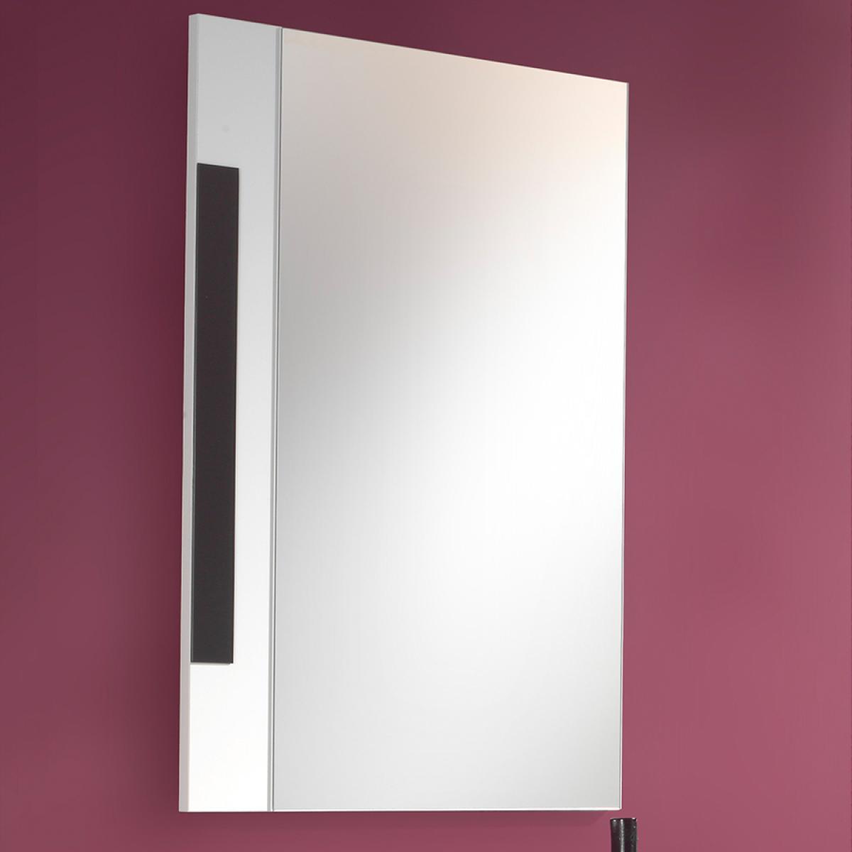 Nouvomeuble Miroir mural blanc et gris design ARMANA
